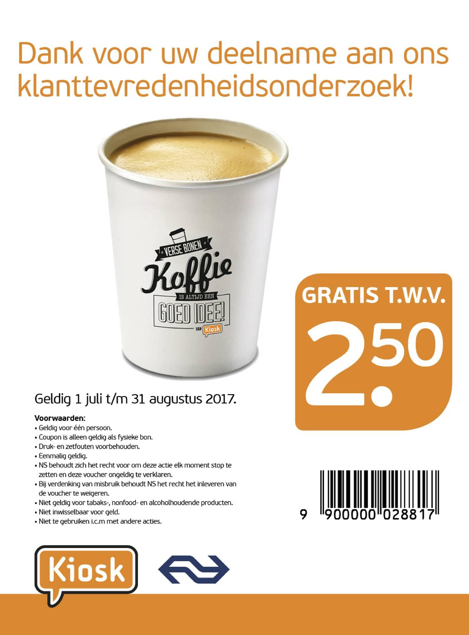 Kiosk Voucher t.w.v. €2,50