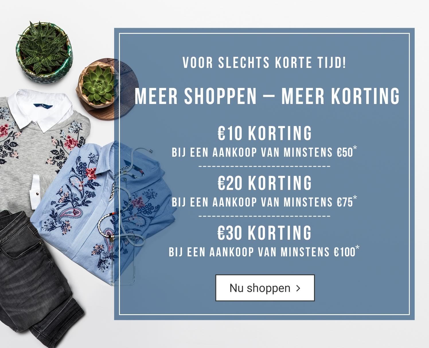 Meer shoppen meer korting (min €50 / €10-€30) ook op sale @ Tom Tailor