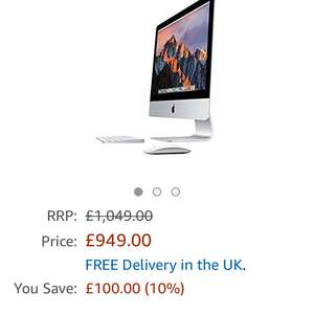 """Apple iMac 21,5"""" 2017 instapmodel @ Amazon.co.uk"""