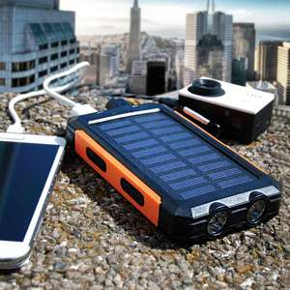Solar Powerbank 10.000mAh - ALLEEN VANDAAG €14,95 MegaGadgets