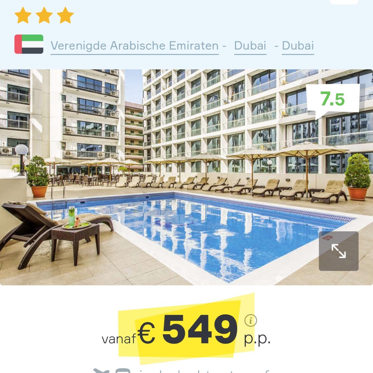 Voor nieuwe jaar naar Dubai? voor €549 @ VakantieDiscounter