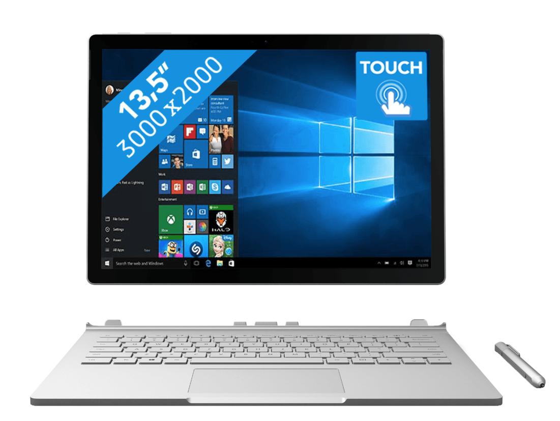Microsoft Surface Book Core i5 6300U 8GB 256GB (Qwerty) Zilver @ AcesDirect