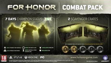 Gratis Combat Pack DLC voor For Honor @ Ubisoft