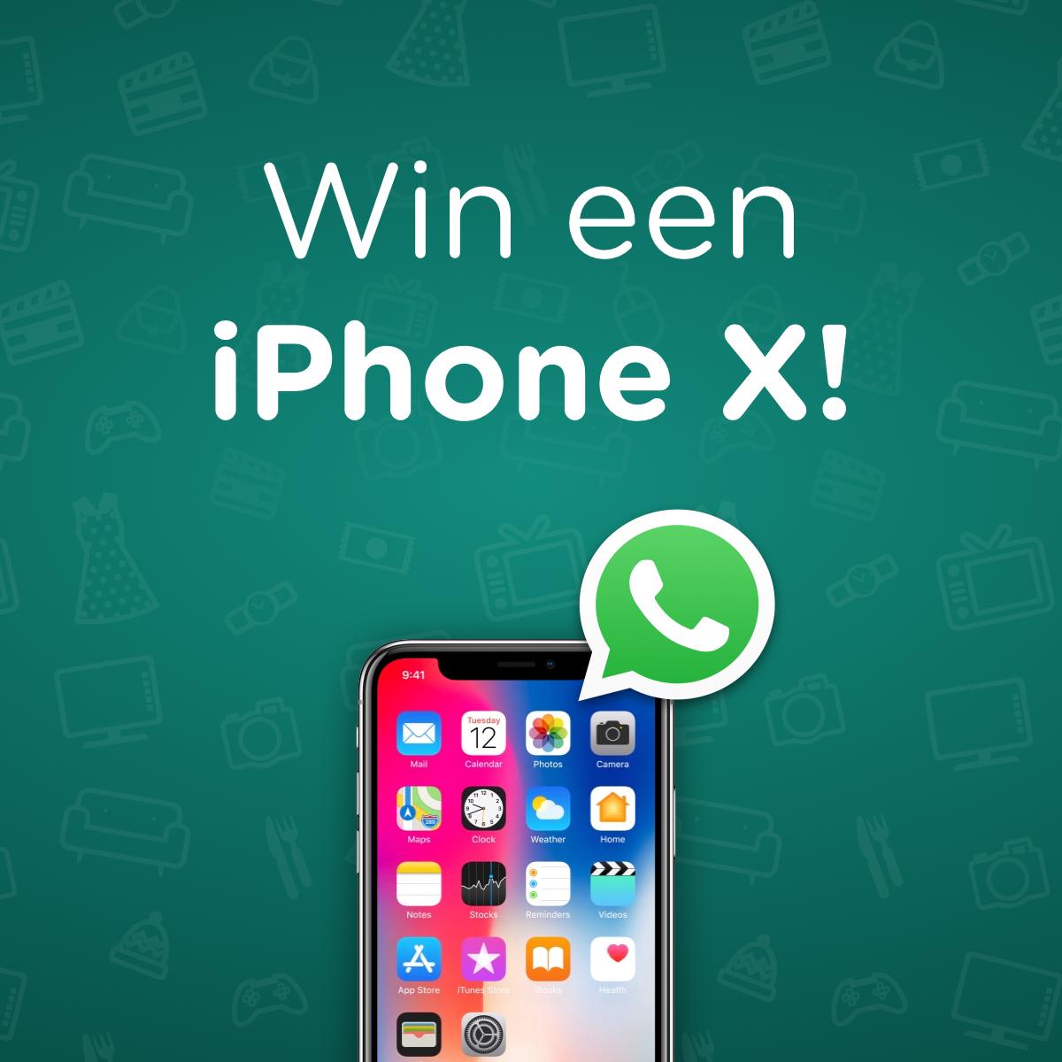 Abonneer op de WhatsApp DealAlerts en win een iPhone X!