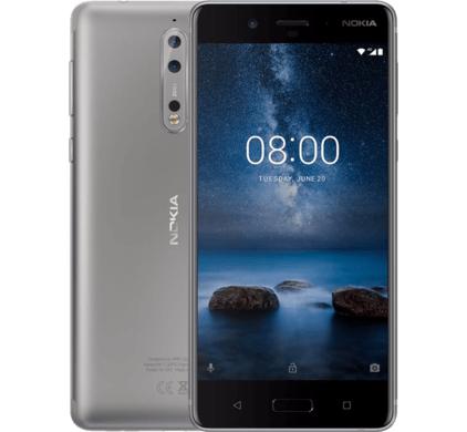 Nokia 8 64GB/4GB Grijs of Blauw voor €399 @ Coolblue