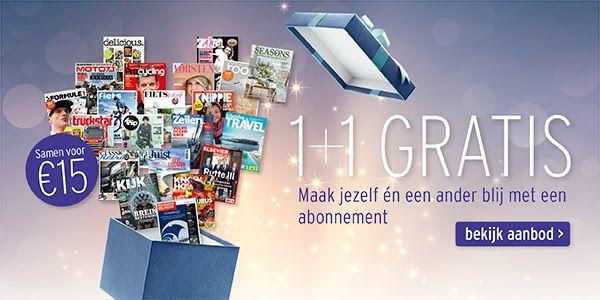 1+1 gratis tijdschrift keuze uit 21 tijdschriften