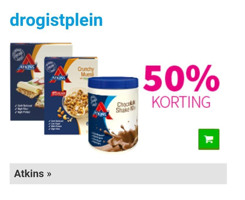 Alle Atkins producten voor helft van de prijs 50%