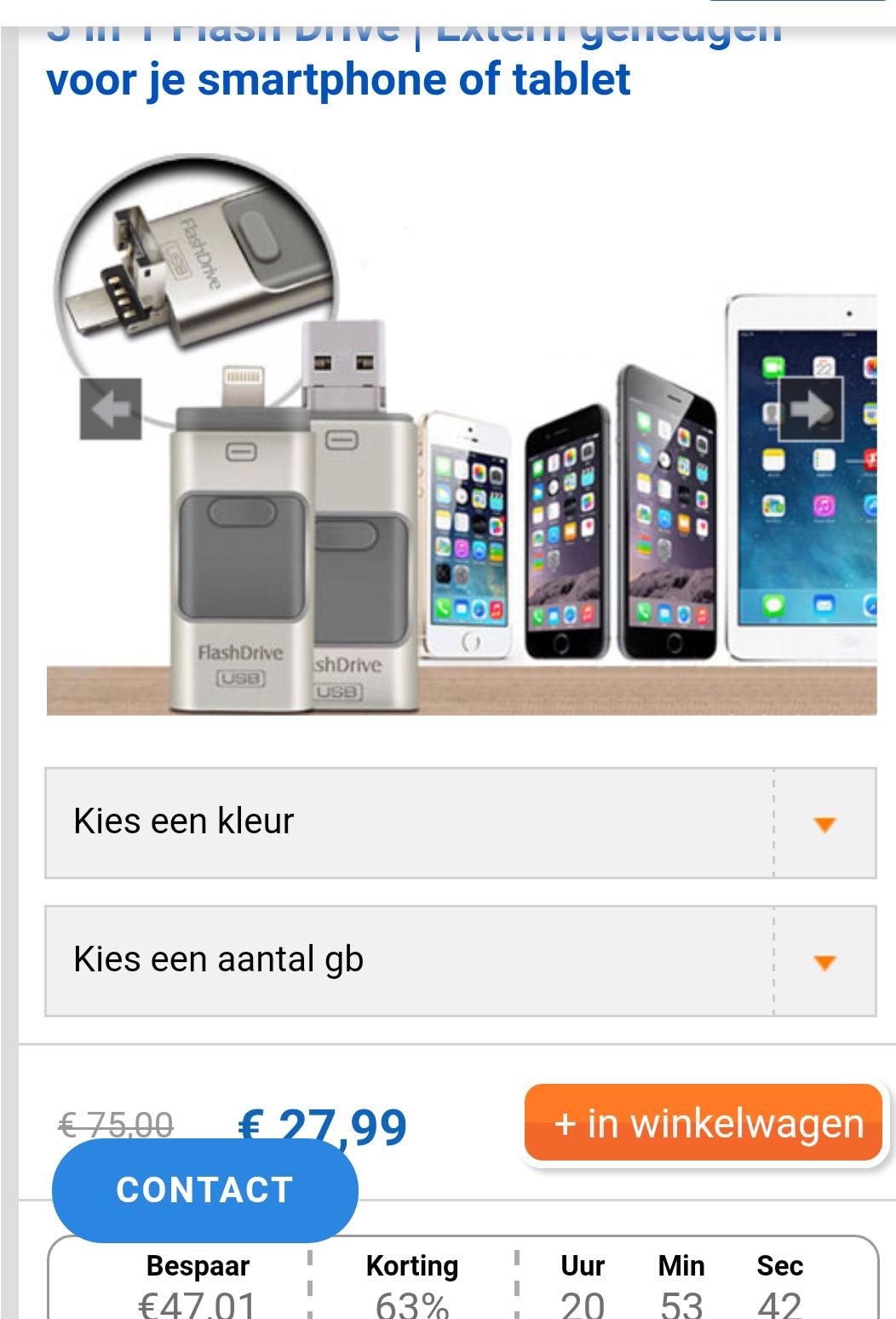 3 in 1 Flash Drive | Extern geheugen voor je smartphone of tablet