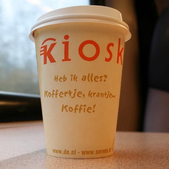 Korting op koffie met je eigen beker bij NS Kiosk en Starbucks