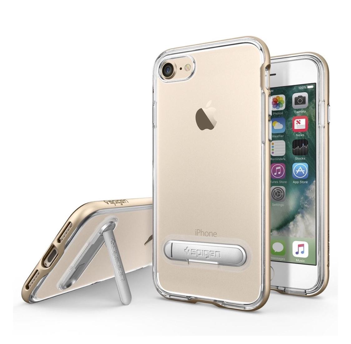 Spigen Crystal Hybrid voor iPhone 7 (goud)