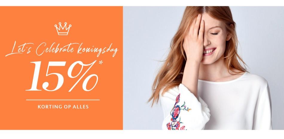 15% Koningskorting  @ street one