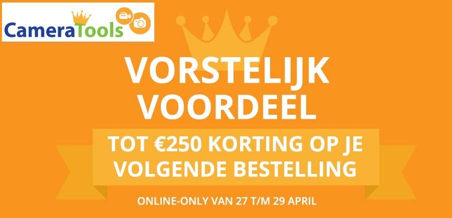Korting op bestelling vanaf €100 bij CameraTools
