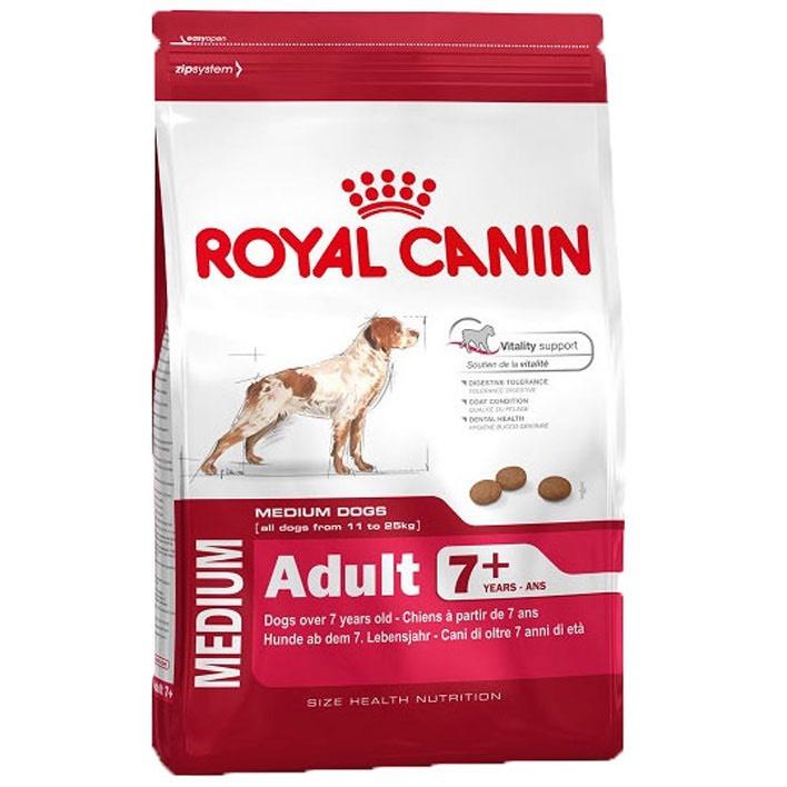 15kg Royal Canin Medium adult 7+ @AH