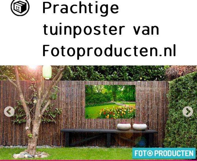 Tuinposter: 67% korting bij fotopruducten.nl