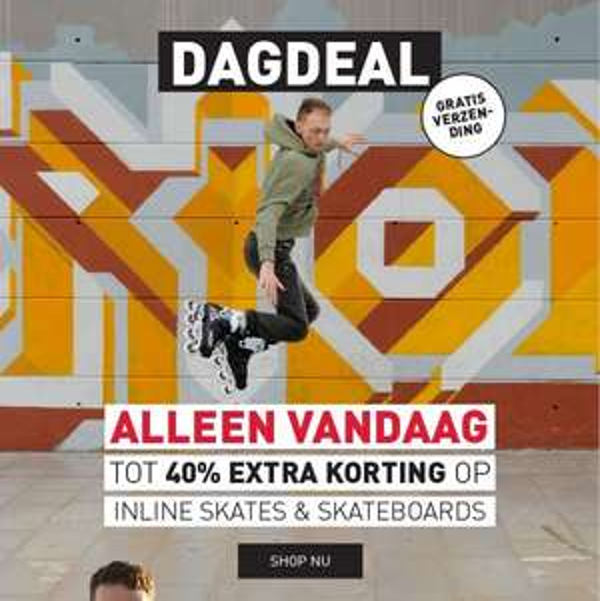 [DAGDEAL] Inline skates / skateboards met kortingen tot 40% + 10% extra via code @PerrySports
