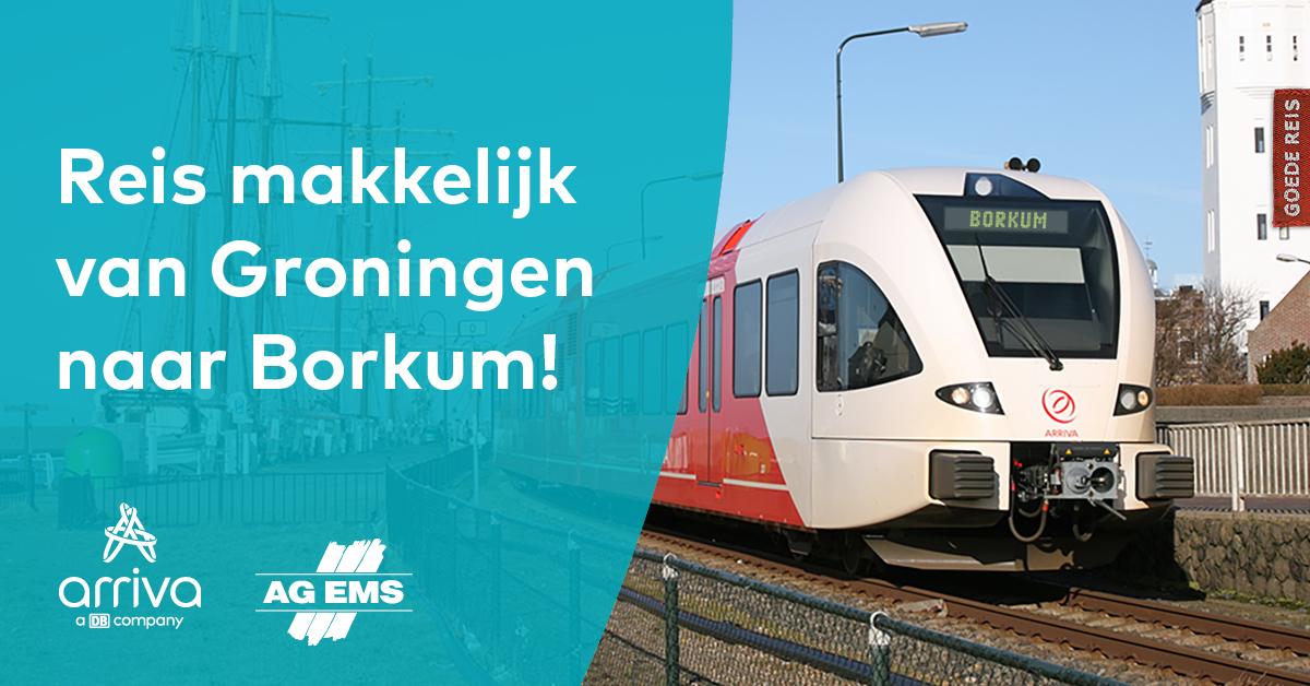 Combi-dagticket Trein naar Eemshaven + Boot naar Borkum (Waddeneiland) & retour