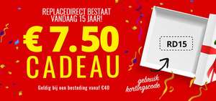 ReplaceDirect -€ 7,50 vanaf € 40, -