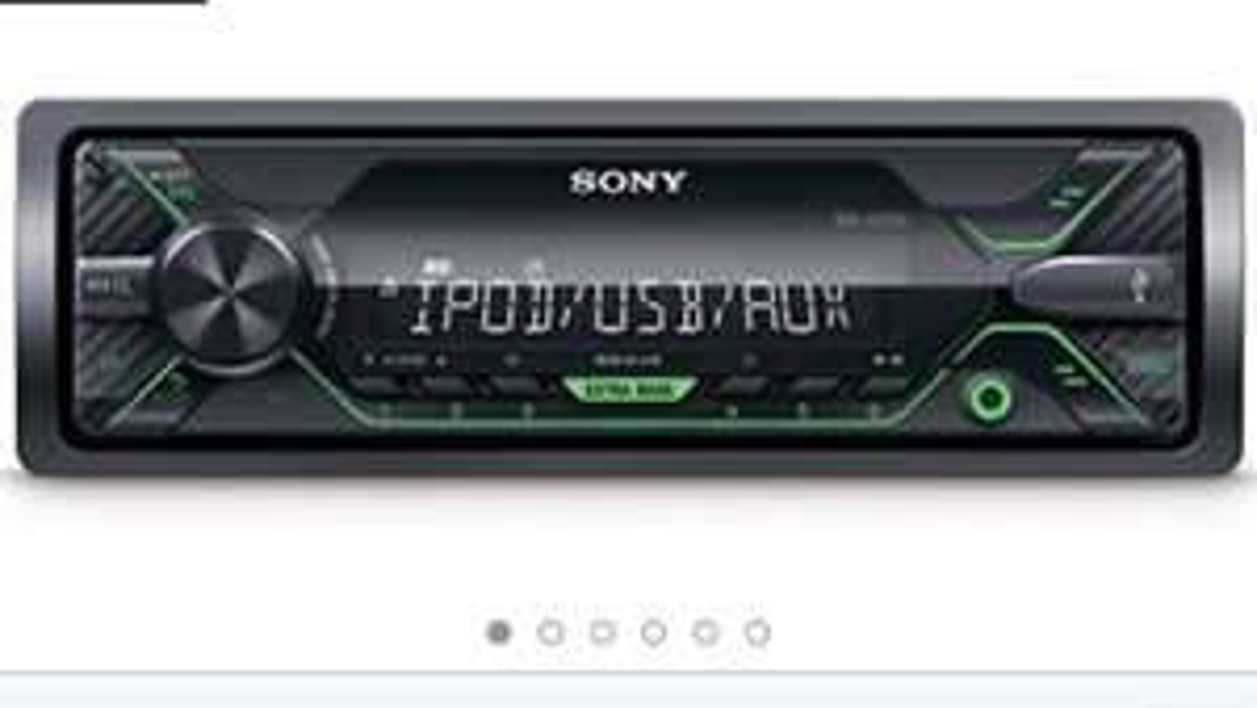 Sony dsxa212ui MP3 autoradio met USB, AUX aansluiting en iPod/iPhone Control functie Groene verlichting van 70€ naar 35,99€