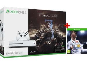 [BE] Xbox One S 500 GB + Shadow of War + FIFA 18