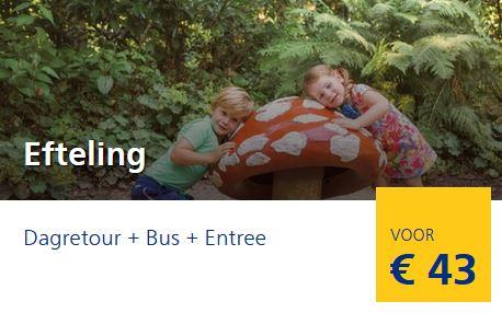 €43 voor Dagje Efteling + trein + bus (€29 voor kinderen 4 - 11 jaar)