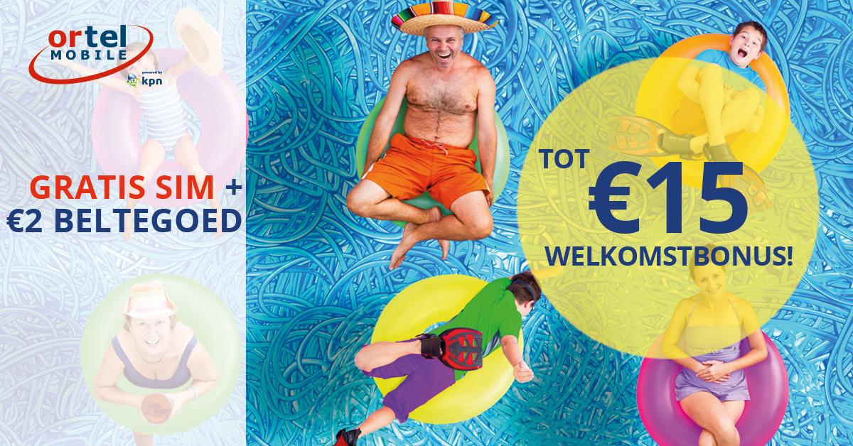 Gratis Ortel prepaid simkaart + €2,- beltegoed