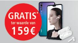 België - Kreefel - gratis snoerloze Huawei Earbuds bij aankoop van Huawei P20/P20 Pro