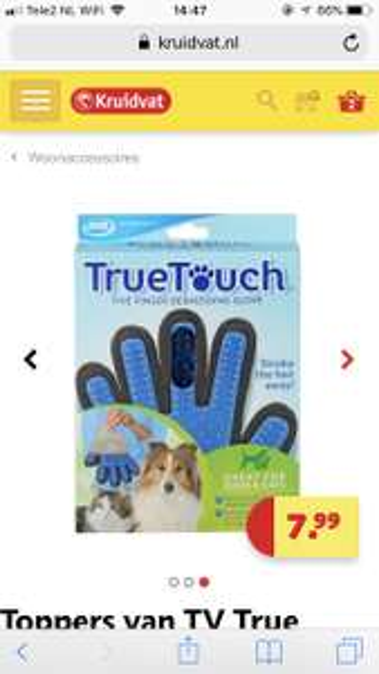 Kruidvat True Touch Dierenhandschoen