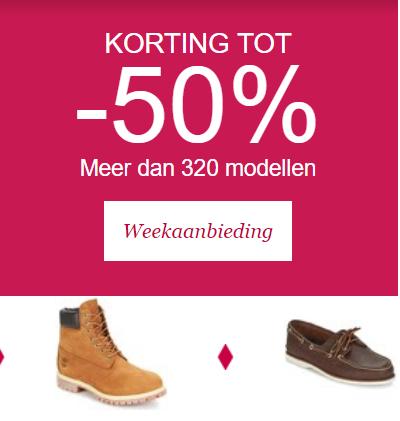 Tot 50% korting op Timberland schoenen en kleding   Spartoo