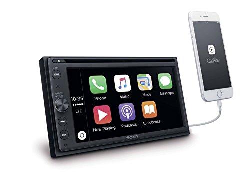 Sony xav-ax100 CarPlay (6,4 inch) Media Receiver (met Bluetooth, Apple carplay en Android Auto, navigatie, spotify, 2 DIN autoradio)