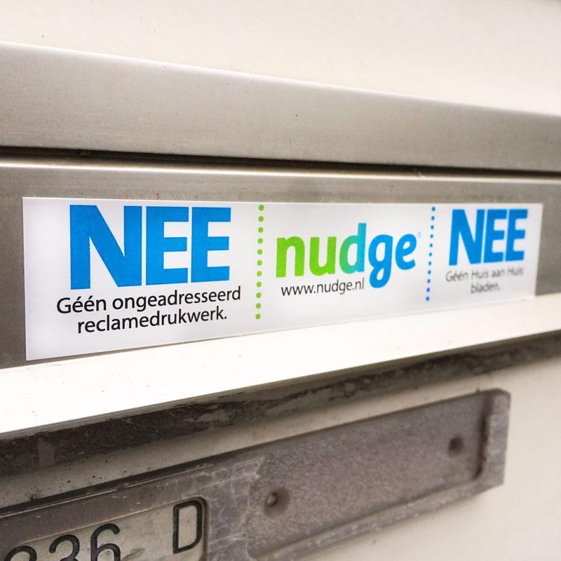 Gratis NEE / NEE of NEE / JA sticker @ Nudge