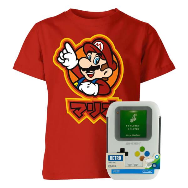 Nintendo Back To School bundel (T-shirt + lunchbox) voor €13,98  @ Sowaswillichauch