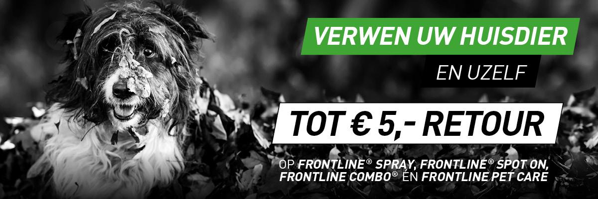 Tot €5,- retour op Frontline Spray, Frontline Spot On, Frontline Combo en/of Frontline Pet Care