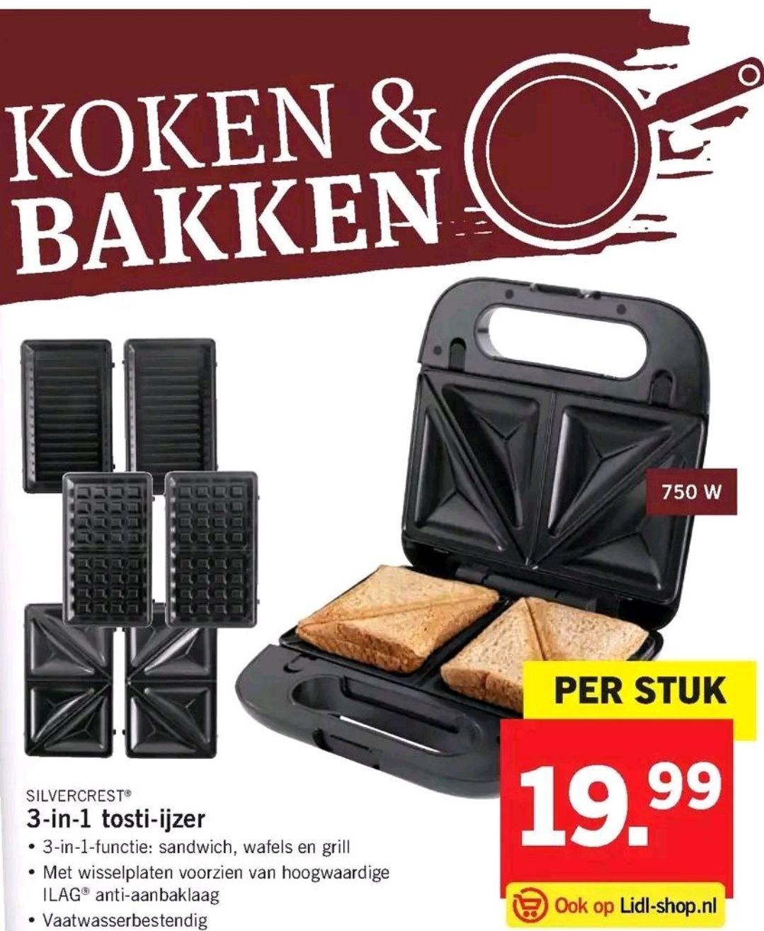 Silvercrest 3 in 1 tosti-ijzer voor 19,99!