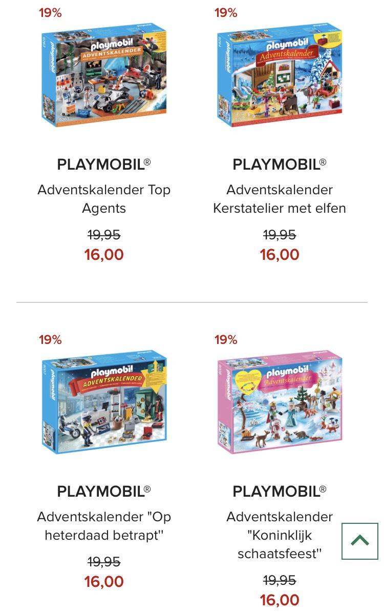 Playmobil Adventskalender, 4 soorten @Hudsonsbay