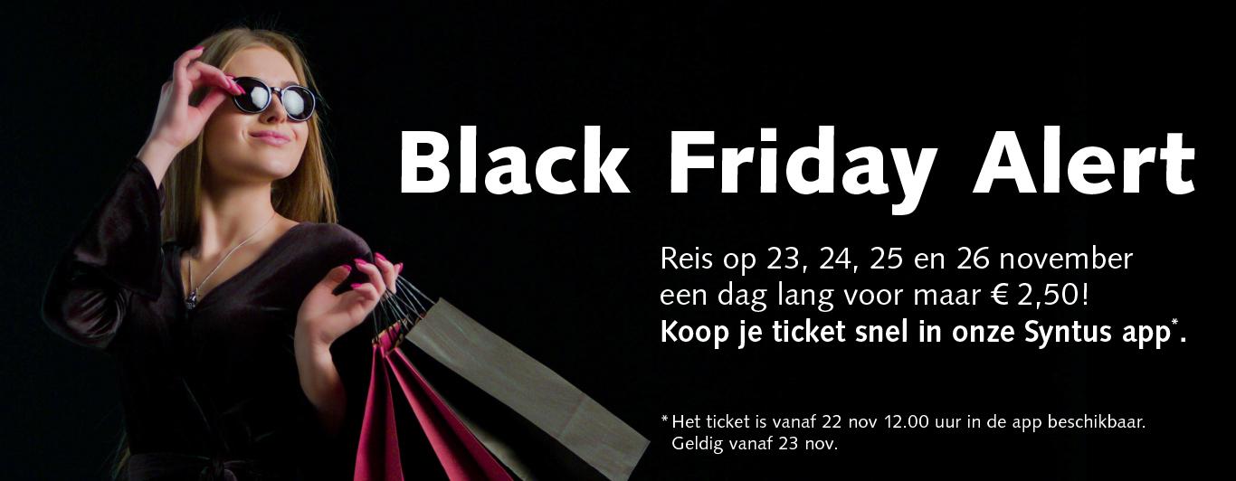 Syntus-dagkaart voor bus en trein (Black Friday t/m Cyber Monday)