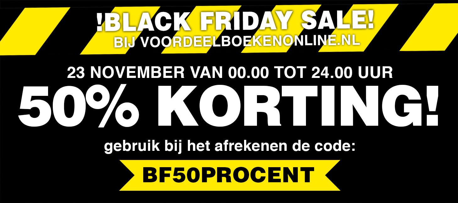 50% korting op alles bij voordeelboekenonline.nl