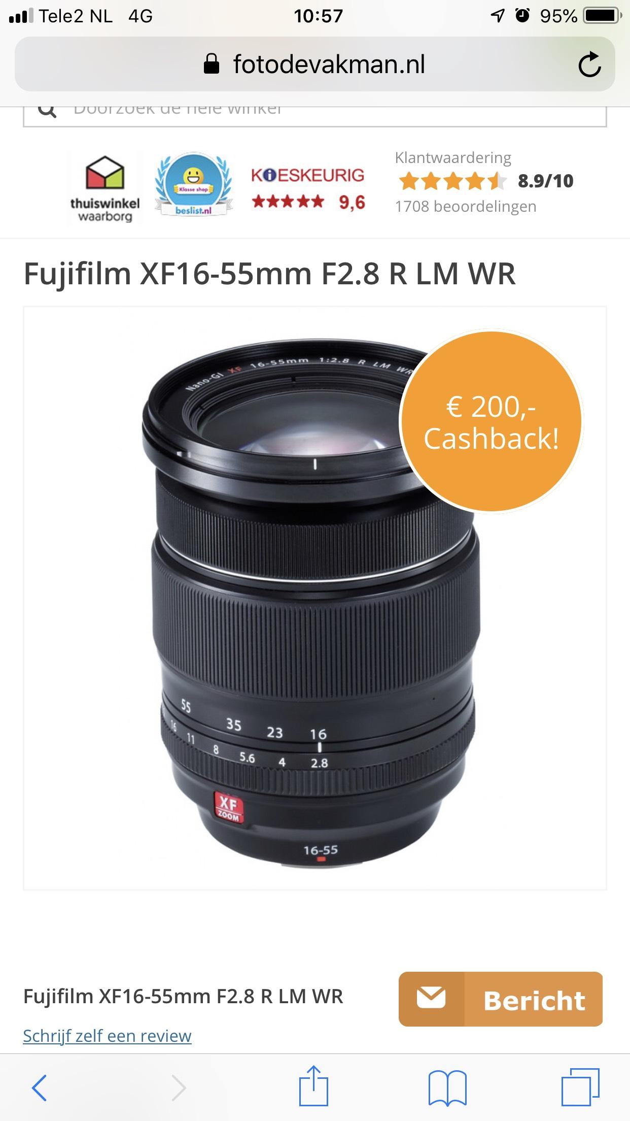 Fujifilm XF16-55mm F2.8 R LM WR