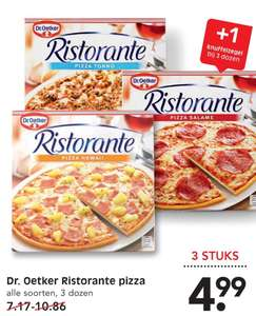Dr Oetker ristorante pizza   3 stuks voor €5 bij Emté