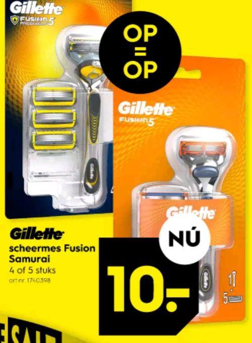 Gillette Fusion of Proshield mesjes inclusief houder
