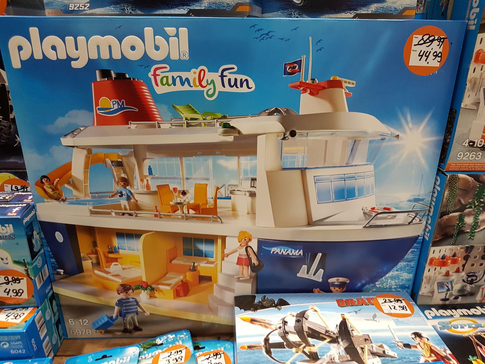 Playmobil cruiseschip en nog meer met flinke korting @intertoys