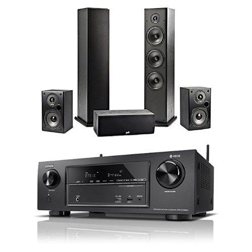 Denon AVR-X1400H 7.2-kanaals AV-receiver met HEOS-integratie speakerset