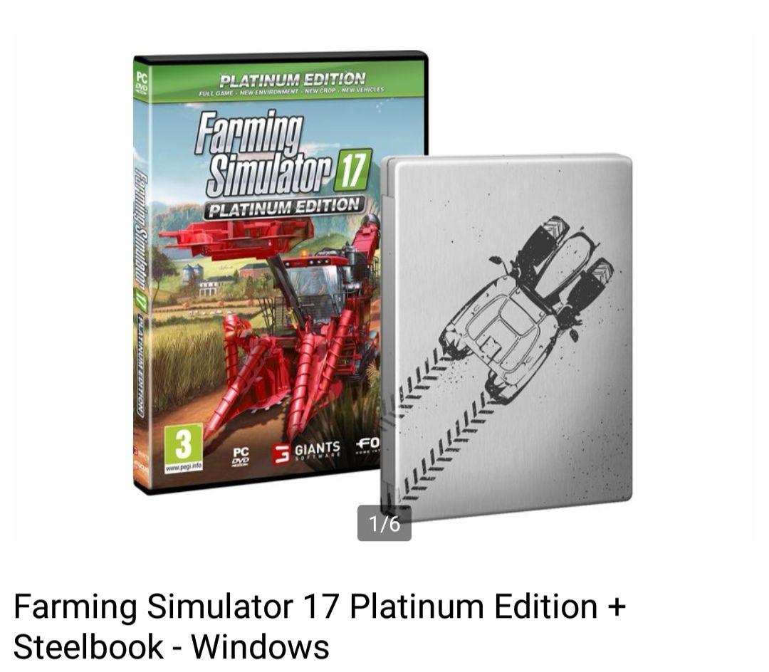 Farming Simulator 17 Platinum Edition + Steelbook - Windows voor €9,00    Bol.com