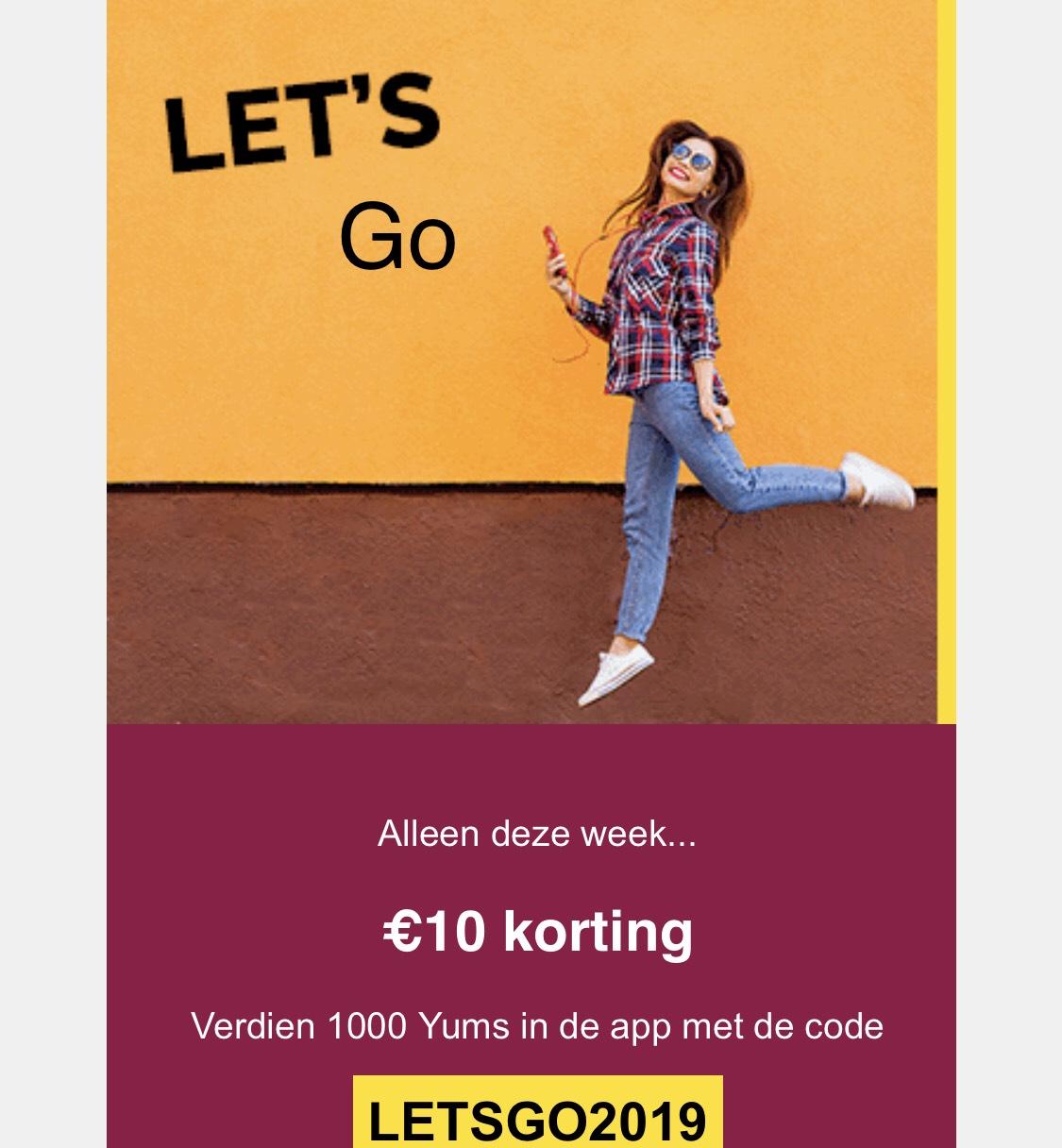 Iens tegoed 10 euro bij je reservering.