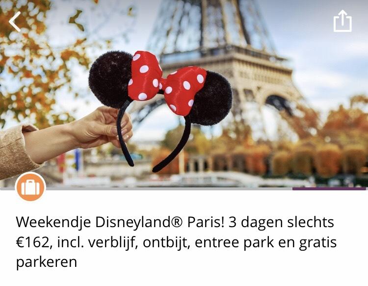 3 dagen Disneyland Parijs, slechts 162 euro incl. verblijf, ontbijt, entree park en gratis parkeren
