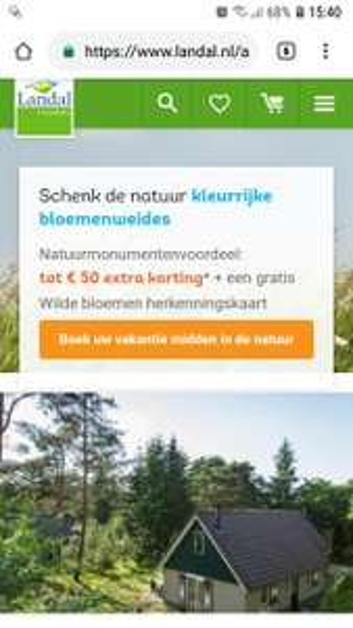 Tot 50 euro extra korting Landal GreenParks