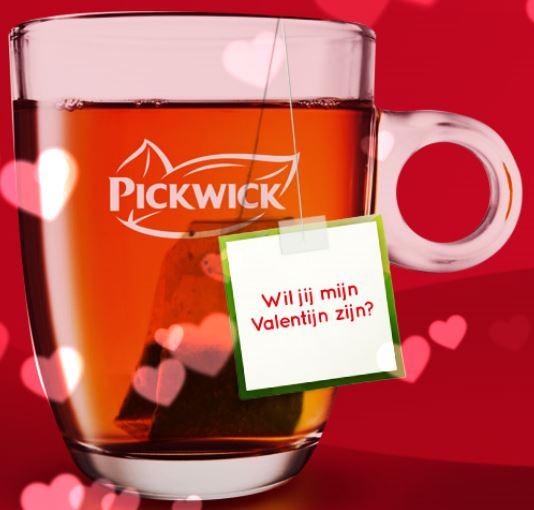 Gratis Theezakje met eigen theelabel (bezorging op Valentijnsdag) (Tea Topics) @ Pickwick
