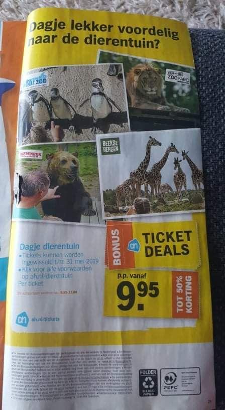Dagje lekker voordelig naar de dierentuin via AH ticket deals