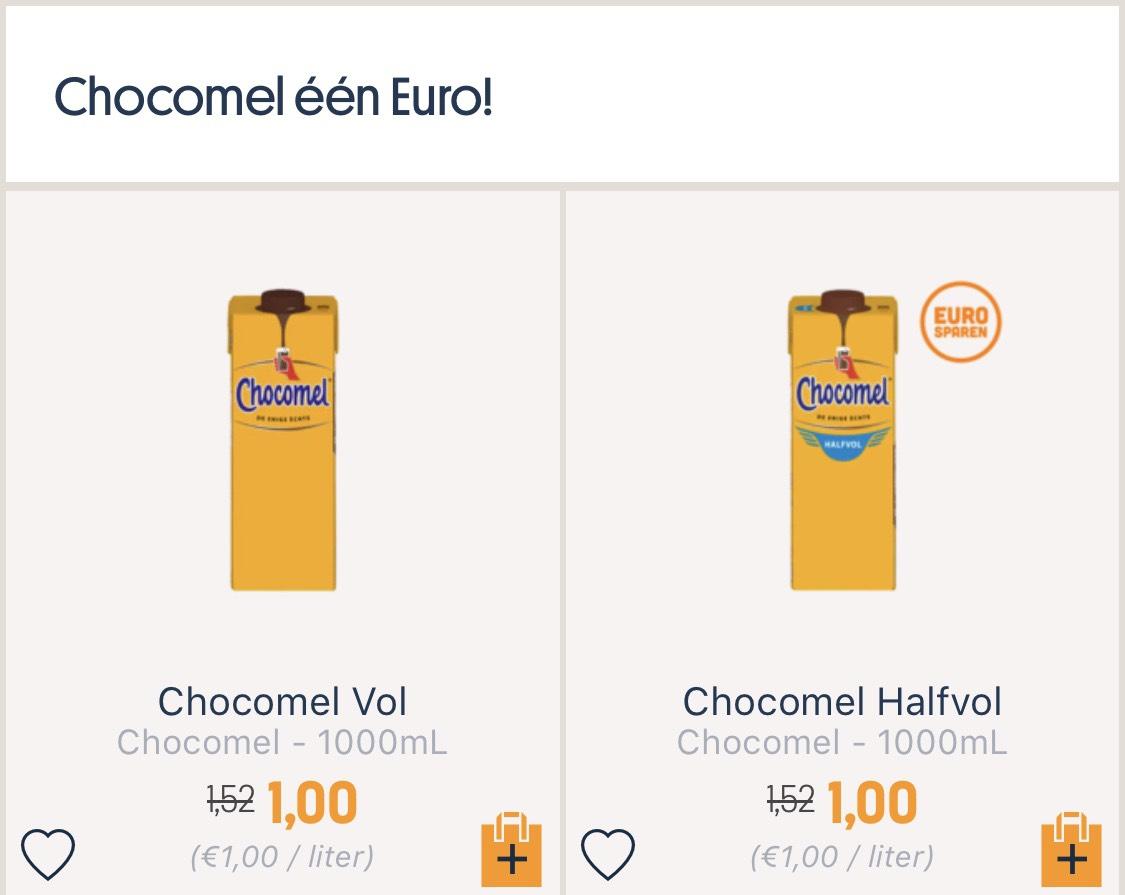 Chocomel voor 1 euro bij Stockon