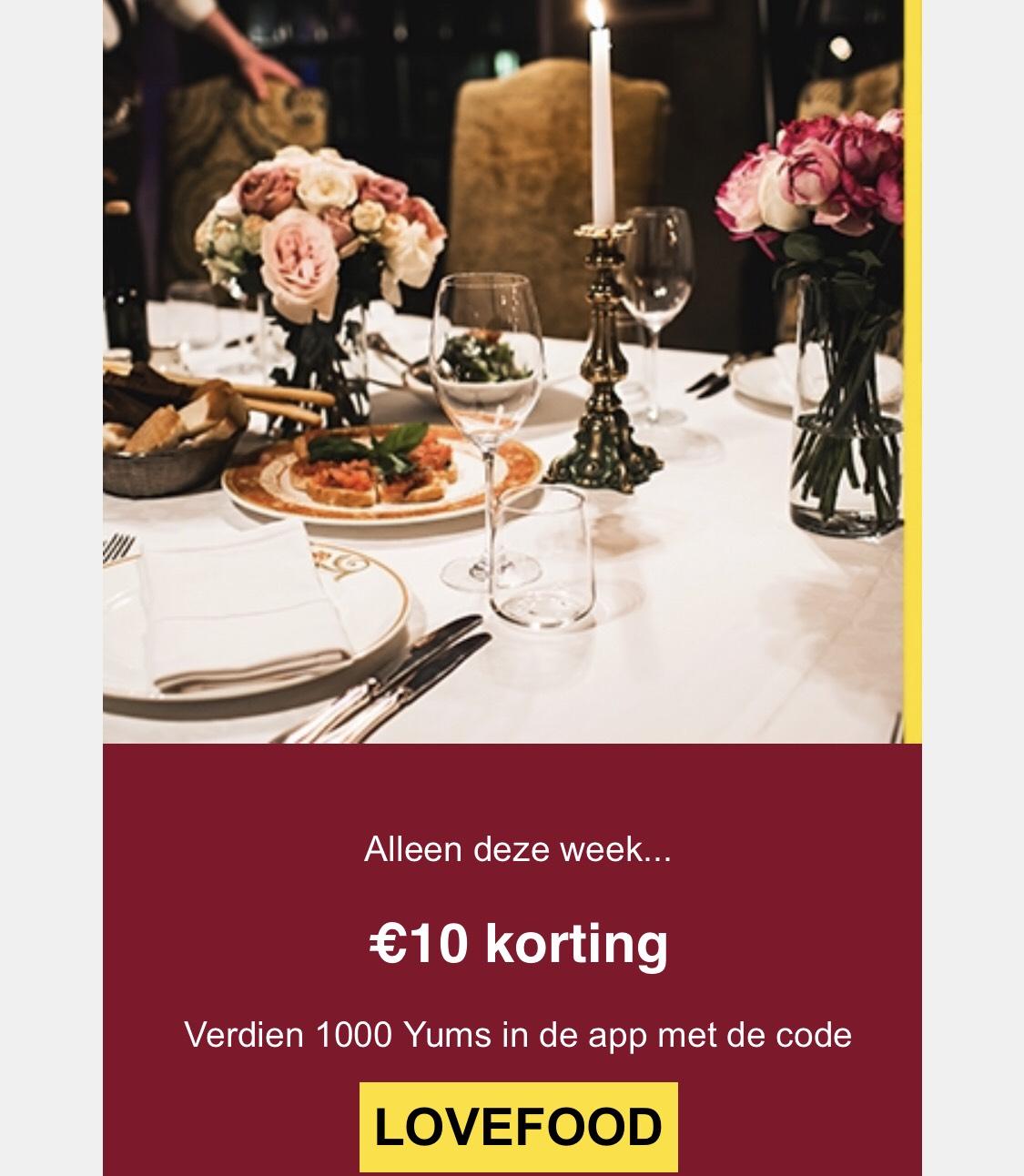 Iens yummie tegoed - 10 euro- bij volgende reservering