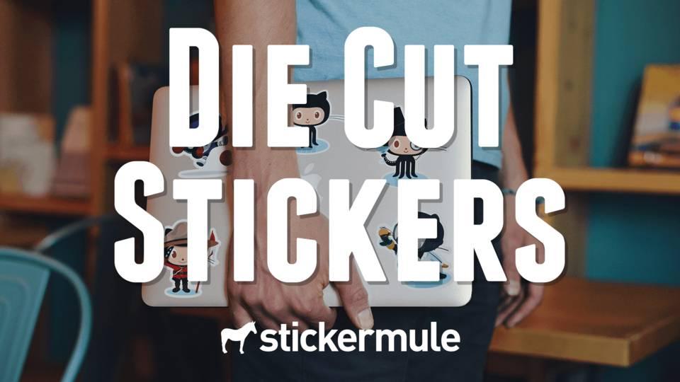€1 voor 10 - custom made - die cut stickers @Stickermule